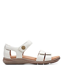 Clarks Unstructured Kylyn Strap Wide Fitting Sandals
