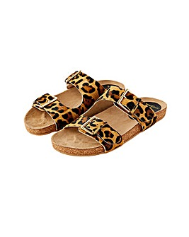 Accessorize LEOPARD BUCKLE FOOTBED