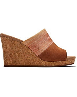 Toms Monica Mule Tan Wedge