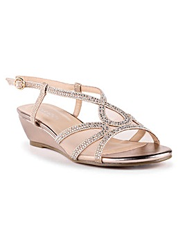 Paradox London Justine Wedge Sandals