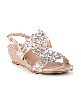 Paradox London Yvette Wedge Sandals
