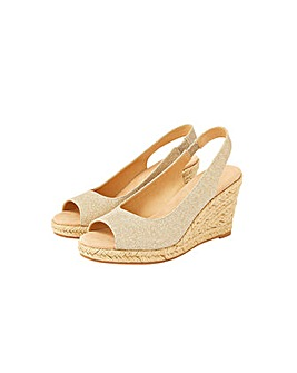 Monsoon SANDY SLING BACK PEEP TOE WEDGE