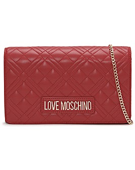 Love Moschino Diamond Quilt Flapover Cross-Body Bag