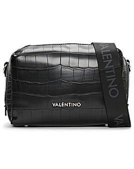 Valentino Bags Pattie Haversack Moc Croc Cross Body Bag
