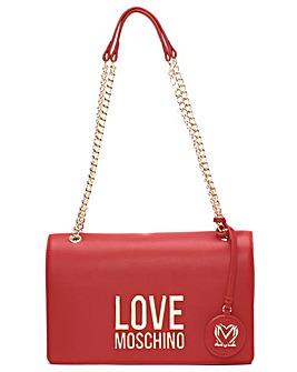 Love Moschino Logo Flapover Shoulder Bag