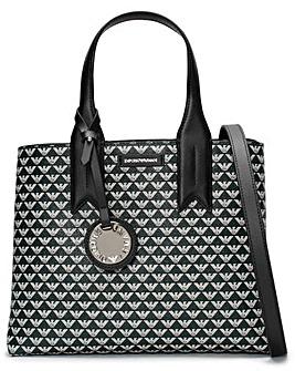 Emporio Armani Logo Contrast Tote Bag