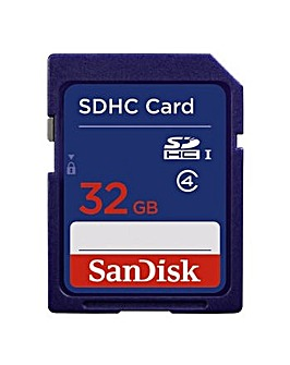 Sandisk 32GB SDHC Memory Card Class 4