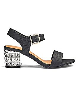 Kaley Jewel Block Heel E Fit