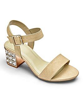 Kaley Jewelled Block Heels Extra Wide EEE Fit