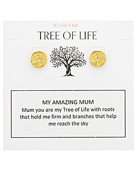 Tree of Life My Amazing Mum Earrings