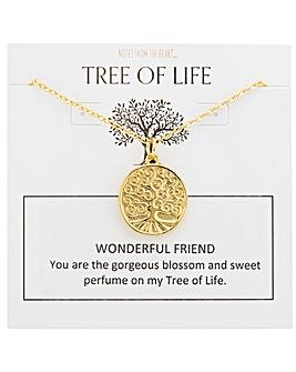 Tree of Life Wonderful Friend Pendant