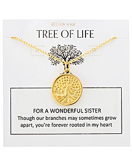 Tree of Life For A Wonderful Sister Pendant