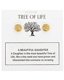 Tree of Life A Beautiful Daughter Earrings
