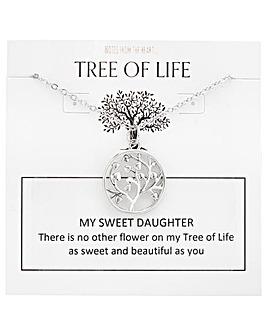 Tree of Life My Sweet Daughter Pendant