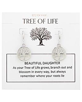 Tree of Life Beautiful Daughter Earrings