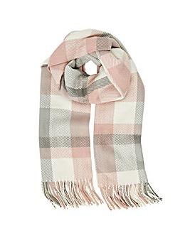 Accessorize Poppy Pastel Check Blanket