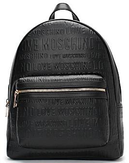 Love Moschino Embossed Logo Backpack
