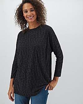 Black Burnout Boxy Tunic
