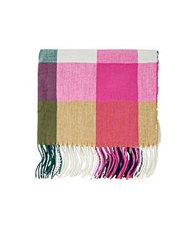 Colourblock Check Blanket Scarf
