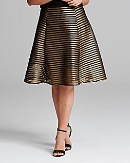 TFNC Foil Midi Length Skirt