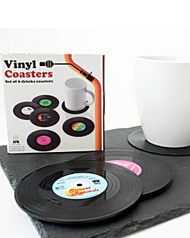 Vinyl Coasters Pack Of 6