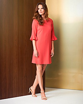 Helene Berman Fluted Sleeve Dress