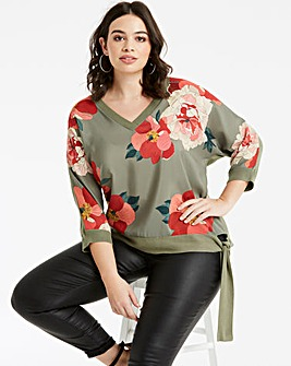 Oasis Curve Rosemary Woven Front Top