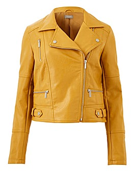 Oasis Curve Faux Leather Biker Jacket
