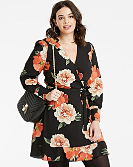 Oasis Curve Bold Bloom V Neck Skater
