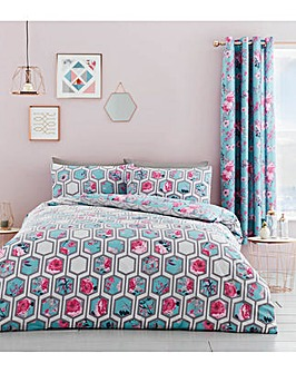 Catherine Lansfield Hexagon Floral Duvet