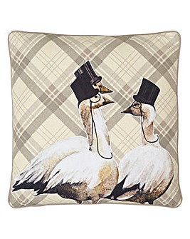 Arthouse Embroidered Geese Cushion