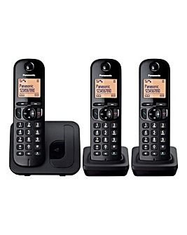 Panasonic KX-TGC213EB Triple Telephone