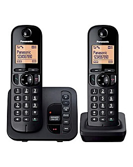 Panasonic KX-TGC222EB Twin Cordless Telephone