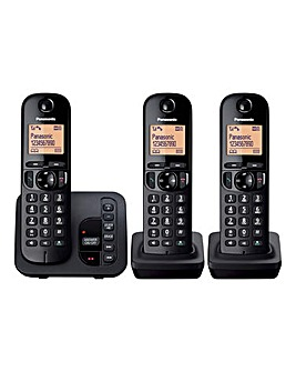 Panasonic KX-TGC223EB Triple Cordless Telephone