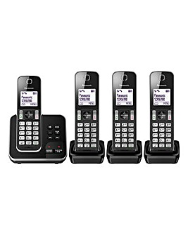 Panasonic KX-TGD32 Quad Cordless Telephone