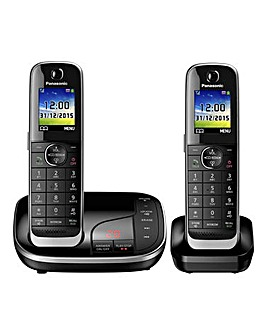Panasonic KX-TGJ322EB Twin Telephone