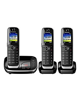 Panasonic KX-TGJ323EB Triple Telephone