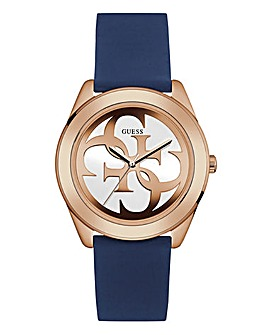 Guess Ladies Navy Silicone Watch