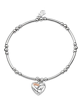 Clogau Eternal Love Sterling Silver and 9ct Rose Gold Affinity Bracelet