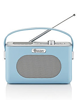 Swan Retro DAB Radio - Blue