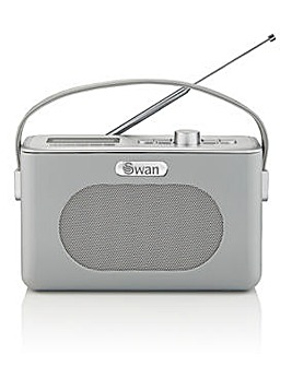 Swan Retro DAB Radio - Grey