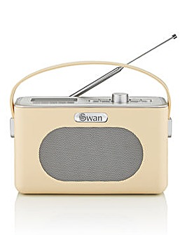 Swan Retro DAB Radio - Cream