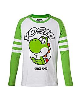 Super Mario Yoshi Long Sleeve Boys Shirt