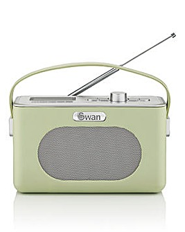 Swan Retro DAB Radio - Green