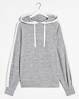 Light Grey Marl Cut and Sew Hoody