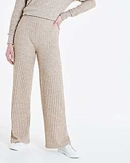 Oatmeal Ribbed Trousers