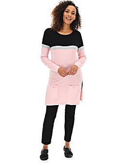 Blush/Black Tunic With Pockets