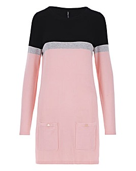 Blush/Black Tunic With Pockets