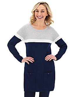 Navy/Grey Tunic With Pockets