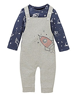Baby Boy T-Shirt and Dungaree Set
